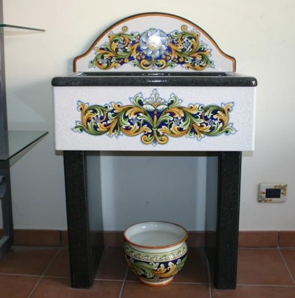 Lavello in pietra lavica siad ceramiche di caltagirone - Lavelli cucina in pietra ...