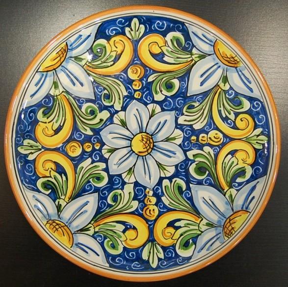 Piatto cm 20 siad ceramiche di caltagirone for Piatti decorati